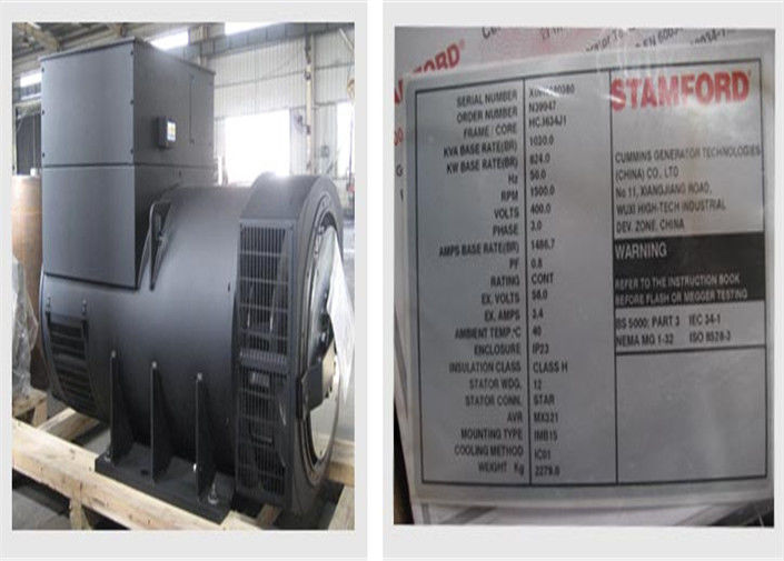 Class H 12KW Brushless Synchronous Generator For Cummins Generator Set 1800 RPM