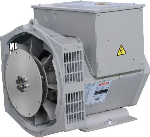 Insulation Class H Approved Three Phase Brushless Alternator 8.8kw / 11kva
